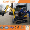 Excavador de múltiples funciones de CT18-9ds (1.8T) mini con la cola de la mitad cero, cabina, chasis retractable