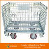 Lager Metal Wire Foldable Storage Container mit Wheels