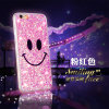 iPhone를 위한 새로운 Bling Powder Smile Face Phone Cover Case