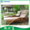 Waterproof Cushion (FY-018CB)를 가진 새로 Design Wooden 일요일 Lounger