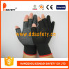 Le PVC blanc noir de 13 Gague Nlyon Shell pointille les gants fonctionnants de demi de coton sans couture de doigt (DKP528)