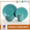 Padellame blu di lusso del gres di ceramica all'ingrosso 16PCS della Cina