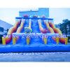 아이 물 수영장을%s 가진 거대한 팽창식 물 미끄럼 또는 팽창식 물 미끄럼