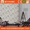 Papier peint de vinyle de PVC de projet d'hôtel avec des fleurs