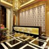 텔레비젼 Wall Furnishings Emboss PU Artificial Leather 3D Wall Panel
