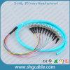 12 coleta óptica de la fibra del manojo de la base St/Upc-50/125um Om3 milímetros