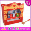 2015 novo e Popular Wooden Knock Toy, DIY Toy Wooden Table Theatre e um Hammer Story, Role Play Toy View Theatre Table W10d102
