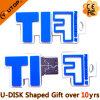 Mecanismo impulsor formado carta del flash del USB del PVC para el regalo de la promoción (YT-6433)