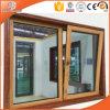 Guichet en aluminium de revêtement en bois de bonne qualité fabriqué en Chine
