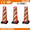 Verkehrssicherheit-Produkt-rotes u. weißes faltbares Delineator-Plastikpanel