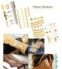etiquetas engomadas temporales metálicas impermeables del tatuaje de la carrocería de la manera