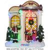 Lichten van de Decoratie van het Ornament van het Huis van het LEIDENE de Feestelijke Dorp van Kerstmis