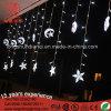 La décoration de Windows de décor de mariage de chaîne de caractères de lumière de rideau en glaçon de DEL allume le blanc d'éclairage d'étoile