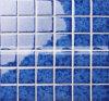 mosaico lustrato cristallo blu scuro del reticolo del fiore di 48X48mm (BCK642)