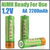 Batería recargable lista para utilizar AA 2200mAh de NiMH