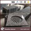 Дешевые верхние части тщеты гранита G439 китайской белизны с вырезом раковины для ванной комнаты