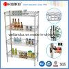4 capas ajustables del cromo del metal de la cocina de alambre de la estantería de la cesta