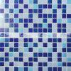 mosaico de vidro deDerretimento da mistura azul de 20X20mm para a piscina (BGE012)