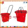 De goede Plastic het Winkelen van de Supermarkt van de Prijs Mand met trekt Staaf (Zhb21)