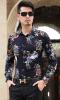 Camicia hawaiana della spiaggia del manicotto lungo degli uomini