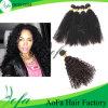 Do volume Kinky do cabelo Curly de Aofa extensão humana do cabelo do Virgin de Remy