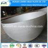 鋼鉄半球のヘッドサンドブラスト皿に盛られたタンクヘッド