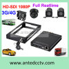 GPS 4 Camera Mobile DVR System van HD 1080P 3G 4G WiFi