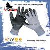 черная ранг покрынная PU промышленная отрезока 13G перчатки уровня 3 и 5