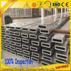 perfil de aluminio anodizado 6000series para cuadrado/redondo/oval/completamente el tubo