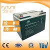 Batterie rechargeable de panneau solaire de la batterie d'acide de plomb 12V 75ah de Futuresolar