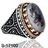 De nieuwe Model Zilveren Ring van de Manier van Juwelen met Natuurlijk Agaat