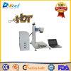 Etiqueta de plástico portable del laser de la fibra para el aluminio de acero cobreado para la venta