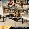 ステンレス鋼フレームが付いている現代ステンレス鋼表のダイニングテーブル