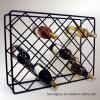 Стеллаж для выставки товаров провода металла 18 бутылок просто для хранения вина