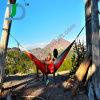 Beste het Kamperen van de Verkoop Kleurrijke Zuivere Katoenen van de Tuin Hangmat
