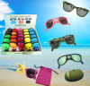 FG1509 China Manufature Protection UV Folding Beach Sunglass com Caso