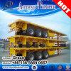 Flachbett-Behälter-halb LKW-Schlussteil des Flachbett-20FT 40FT 45FT 53FT mit Behälter-Verschluss