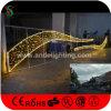 Luzes de suspensão do motivo da rua do Natal do diodo emissor de luz do projeto de Comerical