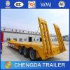 aanhangwagen van de Vrachtwagen van Lowbed Lowboy van het Vervoer van het Graafwerktuig van de Capaciteit 3axle 60ton de Semi
