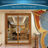 Люкс двери Foshan используемые изготовлением коммерчески алюминиевые стеклянные для нутряного украшения