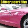 Новый яркий блеск Film Arrival Pink Pearl для обруча Car с воздушными пузырями