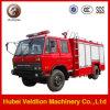 4000liters Vrachtwagen van de Brandbestrijding van de Cabine van de Tank van het water de Dubbele