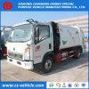 HOWO 5m3 Vuilnisauto 5cbm de Vrachtwagen van de Collector van het Afval