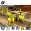 옥외 가구 포도 수확 금속 정원 바 의자
