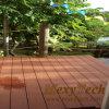 Co-extruido de madera compuesto plástico Patio de madera, Nueva Tecnología