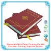 La stampa dura del libro della bibbia santa di stampa del libro della bibbia della copertura di alta qualità nel professionista di cuoio dell'unità di elaborazione con progetta la stampa per il cliente della bibbia