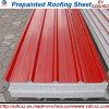 La couleur a enduit le matériau en acier galvanisé d'acier de toiture de tuile de toit