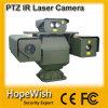 De politiewagen zet de Camera van het Toezicht van de Laser PTZ met de Boswachter van de Laser op