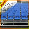 Solución de acero desmontable dotadas de asientos de plástico para uso al aire libre