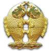 3D morrem o ofício do metal dos peixes do gêmeo do ouro da carcaça (GZHY-CRAFT-001)